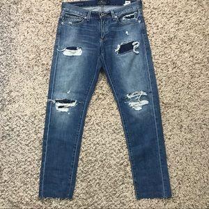 Lucky Brand Sienna Slim Boyfriend Crop Jeans